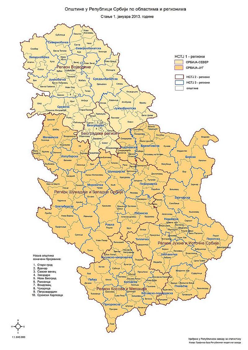 mapa srbije opstine Arhiva | Republički zavod za statistiku Srbije mapa srbije opstine