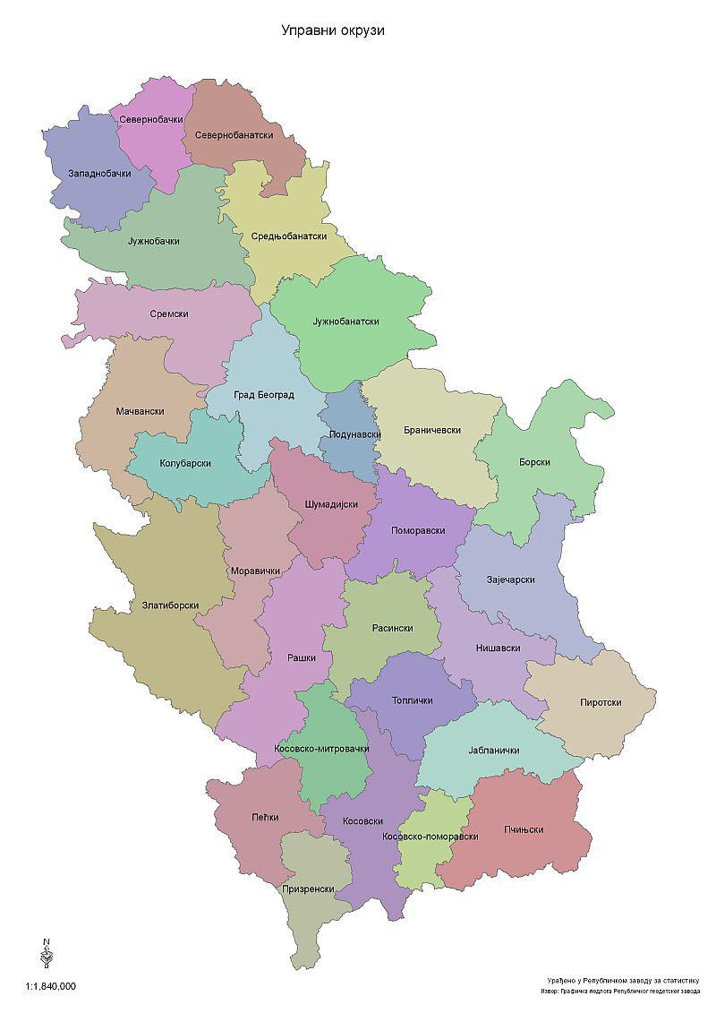 Upravni Okruzi Republicki Zavod Za Statistiku Srbije